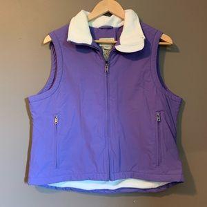 L.L.Bean purple fleece vest.